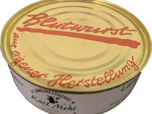 xx Dosenwurst : Blutwurst xx